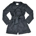 7 For All Mankind Womens Silk Dress Coat Cover Up Casual Jacket Grey S M L