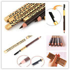 Cosmetic Makeup Eyeshadow Waterproof Eyeliner Eyebrow Pencil Pen Brush Leopard