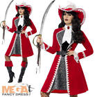 Captain Pirate Ladies Fancy Dress Caribbean Buccaneer Womens Adults Costume New