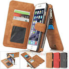 Genuine Leather Case Cover Zipper Wallet Card Multifunction For iPhone 7 6S Plus