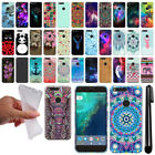 "For Google Pixel XL 5.5"" HTC Design TPU SILICONE Soft Case Phone Cover + Pen"