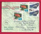 1986 MADAGASCAR QUAD FRANKED AIRMAIL COVER MORAMANGA CANCEL TO CANADA 14