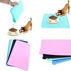 Pet Dog Puppy Feeding Mat Square Silicone Dish Bowl Feed Food Water Placemat EB