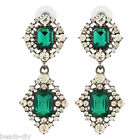 BD Fashion Women Exaggerated Crystal Teardrop-shaped Alloy Rarrings Jewelry