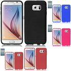 For Samsung Galaxy S6 Rugged Thick Silicone Grip Soft Skin Case Cover