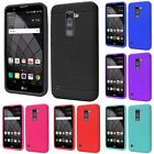 For LG G Stylo 2 Plus Rugged Thick Silicone Grip Soft Skin Case Cover
