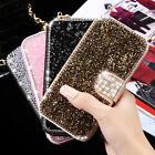 Luxury Diamond Leather Bling Glitter Stand Wallet Cover Case For Galaxy S7 Edge