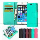 Slim Leather Wallet Case Cover Transparent Silicone Case For iPhone Galaxy LG