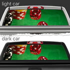 Perforated Vinyl Decal Rear Window Car Dice Game Table N146 FRST