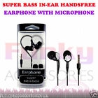 Stereo Sound In Ear Hands Free Headset Head Phones+Mic fits Samsung Core Prime