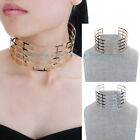 Fashion Jewelry Gold Silver Bold Metal Chain Punk Choker Statement Bib Necklace