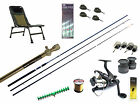 Specialist Barbel fishing start up kit-11ft rod,reel,line,leads,feeders,chair