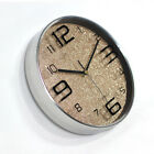Lobby Living Room Round Stainless Steel Clock Glitter On The Wall Clock 6972HC