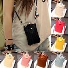 New PU Leather Cross-body Mobile Phone Shoulder Bag Pouch Case For iPhone 6 5 LD