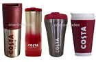 Costa Coffee NEW Ripple Travel Mug Tumbler Cup & Steel Thermal Double Wall 450ml