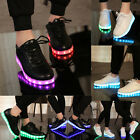 Newest Unisex LED Light Lace Up Luminous Top Sporter Shoe Sneaker USB Sportswear