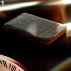 Mens Faux Leather Simple Credit Card Id Money Clip Slim Wallet Holder Smart