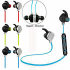 Bluetooth Headphone Wireless Stereo Handsfree Headset Sweatproof with Mic Magnet
