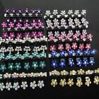 10x Girl Kids Sweet Crystal Rhinestone Flower Mini Hair Claws Clips Pin Clamps