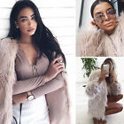 Winter Ladies Womens Faux Fur Fox Warm Coat Jacket Parka Outerwear Overcoat PLUS