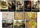 LOTR & THE HOBBIT POSTERS Officiel 61x91.5cm Cartes/Personnages/Bande-annonce