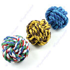 Big Size Pet Dog Play Ball Cat Cotton Chew Clean Teeth Rope Chase Throw Train
