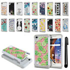 "For LG Tribute HD LS676 X Style 5"" X Skin L53BL Bling HYBRID Case Cover + Pen"