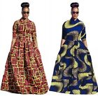 Fashion Women Traditional African Print Dashiki Party Plus Size Long Dress Lot