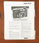 ROLLEI LOT OF DEALER NOTEBOOK PAGES/101538