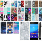 For Sony Xperia Z4 Z3+ Z3 Plus PATTERN HARD Protector Back Case Cover + Pen
