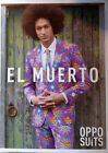 Oppo Suit El Muerto Costume Oufit Tie Pants Day of Dead Latin Skulls Dead One