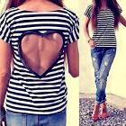 Fashion Women Hollow out Short Sleeve Casual Lace Shirts Blouses T-Shirt Tops