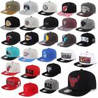 MITCHELL & NESS AND SNAPBACK CAP CHICAGO BULLS NETS KINGS  MAGIC HEAT UVM -B