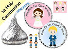 216 1st HOLY COMMUNION PARTY FAVORS HERSHEY KISS KISSES LABELS