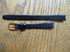 New Old Stock LeJour BLACK Leather Ladies Watchbands-Assorted Sizes Styles