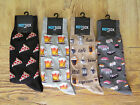 MENS HOT SOX FOOD LOVER Sushi Coffee Pizza Beer Size 10-13 Socks You Choose