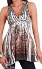 Paisley Multi Lace Applique Back Sublimation Sleeveless/Tank Top S/M/L