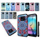 For Samsung Galaxy S6 Edge G925 Anti Shock HYBRID HARD BACK Case Cover + Pen