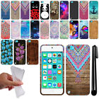 For Apple iPod Touch 5 5th/ 6 6th Gen Art Design TPU SILICONE Case Cover + Pen