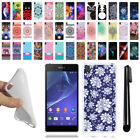 For Sony Xperia Z2 Sirius D6503 TPU SILICONE Soft Protective Case Cover + Pen