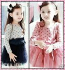 FREE SHIPPING 114 Polkadot Wedding Party Flower Girls Dresses SZ AGE 2 3 4 5 6 7