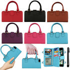 "For Apple iPhone 7 4.7"" Purse Satchel Tote Clutch Handle Wallet Case Cover + Pen"
