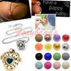 Hollow Love Heart Mexican Bola Pendant + Pregnancy Harmony Ball Chain Necklace