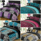 Kruger Raffile Leopard Animal Print Reversible / Duvet Quilt Cover Bedding Set