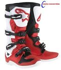NEW 2017 ALPINESTARS TECH 5 MOTOCROSS BOOTS RED/BLACK/WHITE  FREE DELIVERY