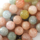 "Natural Morganite Round Beads Gemstone 15.5"" Strand 6mm 8mm 10mm 12mm"