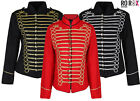 Ladies Black Gold Silver Emo Punk Goth Napoleon Military Drummer Parade Jacket