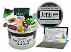 50th BIRTHDAY SURVIVAL KIT IN A CAN. Gift Ideas & Card For Him/Her/Men/Women/Dad