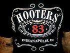 HOOTERS INDIANAPOLIS INDIANA T SHIRT Since 1983 Whiskey Label Look Boobs Bar NEW