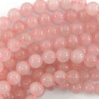 "Rose Quartz Round Beads Gemstone 15"" Strand 4mm 6mm 8mm 10mm 12mm"